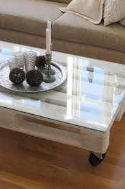 diy wooden pallet coffee table with a