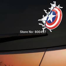 10 X Newest American Captain Shield Avengers Auto Decal Car Accessories For Tesla Toyota Chevrolet Volkswagen Hyundai Kia Lada Car Accessories Auto Decalsaccessories For Toyota Aliexpress