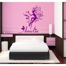 fairy personalised girls bedroom wall