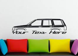 Large Custom Car Silhouette Wall Sticker For Jeep Grand Cherokee Zj
