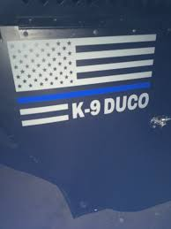 Thin Blue Line K9 Door Decal K9 Door Decal K9 Name Thin Blue Etsy