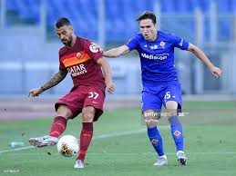 Leonardo Spinazzola of AS Roma and Federico Chiesa of ACF Fiorentina...  News Photo - Getty Images
