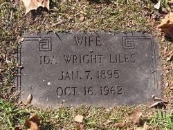 Ida Wright Liles (1895-1962) - Find A Grave Memorial