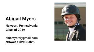 Abigail Myers - NCAA Equestrian Recruiting Video (Class of 2019) - YouTube
