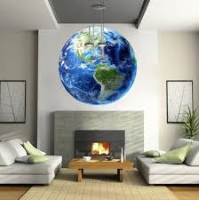 Earth Wall Decal Mural Kids Room Wall Sticker Bedroom Apartment Decor American Wall Designs
