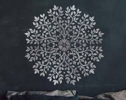 Mandala Wall Stencil Etsy