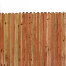 6 Ft X 8 Ft Redwood Con Common 4 In Dog Eared Fence Panel Dog Ear Fence Fence Panels Fence