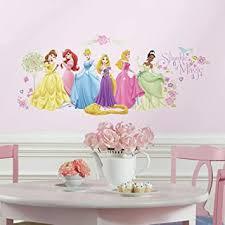 Amazon Com Roommates Disney Princess Glow Princess Peel And Stick Wall Decals Rmk1903scs Multi Home Improvement