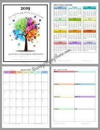 free 2019 diy calendar planner printables