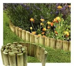 6 X 1 8m Wooden Garden Border Rolls Lawn Edging Gardening Log Roll Fence Ebay