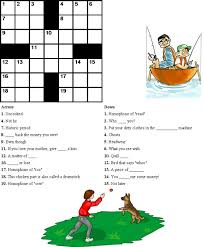 crossword puzzles for kids coloring