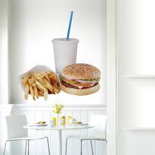 Shop Full Color Tasty Hamburger Fast Food Kitchen Full Color Wall Decal Sticker Sticker Decal Size 48x57 Frst On Sale Overstock 15051816