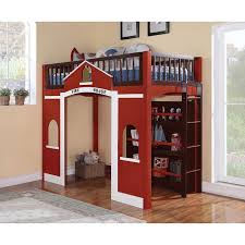 Acme Furniture Kids Beds Fola 37085 Loft Bed With Bookself Loft Bed From Zoe S Furniture