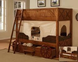 Zzz Dakota Twin Twin Wagon Bunk Bed Powell Furniture Cowboy Bedroom Bunk Beds Kid Beds