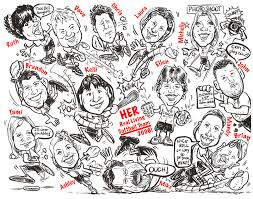 black and white gift caricatures