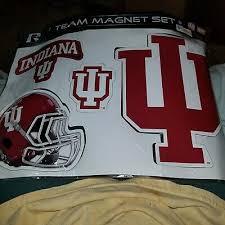 New Vinyl Iu Indiana University Hoosiers Team Logo Ncaa Decals Magnet Set Ebay