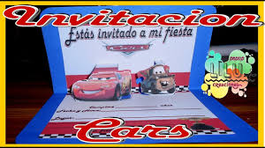 Como Hacer Una Invitacion Dede Cars Invitation Cars Youtube