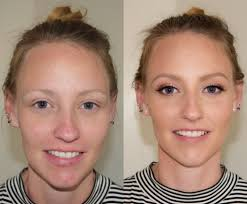 natural makeup look before and after