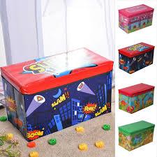 Girls Boys Folding Storage Toy Box Seat Stool Books Clothes Chest Kids Room Tidy Sfhs Org