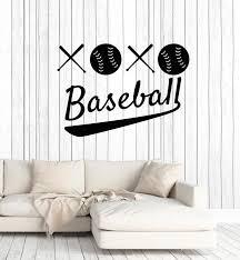 Vinyl Wall Decal Baseball Words Game Sport Ball Bat Fan Decor Stickers Wallstickers4you