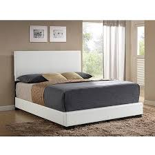 ireland queen faux leather bed white