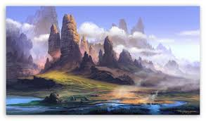 landscape painting ultra hd desktop