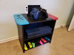 Made A Small Joycon Themed Tv Console For Kids Room Album On Imgur