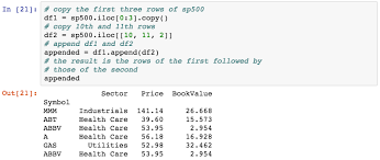 appending new rows learning pandas