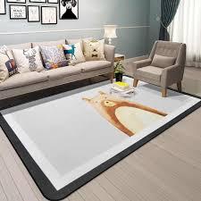 Nordic Carpet Cartoon Coral Velvet Rugs Children Room Carpet Kids Play Crawling Mat Doormat Large Area Rug For Home Living Room Carpet Aliexpress