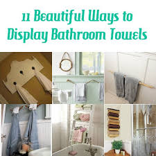 ways to display bathroom towels
