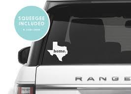 Texas Home Car Decal Texas Car Decal Texas Home Car Sticker Etsy