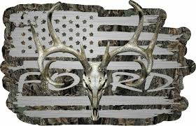 American Flag Ford Truck F150 F250 F350 Whitetail Buck Skull Hunting D Firehouse Graphics