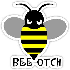 Amazon Com Bee Otch Bee Otch Sticker Decal 4 X 4 Everything Else