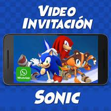 Videozas Video Invitacion De Sonic Crea La Tuya Ahora Facebook