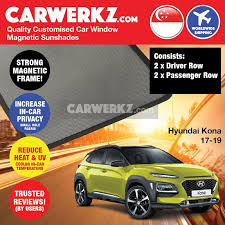 Hyundai Kona 2017 2020 Car Accessories Window Magnetic Sun Shades Tint