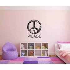 Zoomie Kids Kate Zebra Print Peace Sign Symbol Silhouette Personalized Wall Decal Wayfair