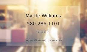 580-286-1101, Myrtle Williams Idabel OK, Páginas Blancas Locales