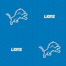 detroit lions logo pattern blue