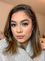 orange cut crease makeup look jasmine