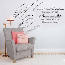 مانيكير باديكير صالون تجميل ملصقات جدار فاترينا ديكور صالون