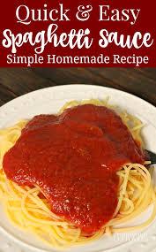 easy spaghetti sauce recipe using