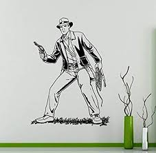 Amazon Com Wall Vinyl Decal Indiana Jones Home Ideas Vinyl Decor Sticker Home Art Print Wd5617 Home Kitchen