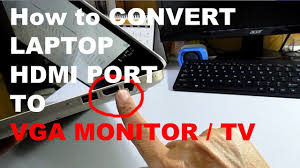 Laptop HDMI TO VGA Monitor Adapter Converter Cable with Audio - YouTube