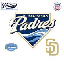 Fathead San Diego Padres Logo Wall Decal Amazon In Home Kitchen