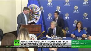 El secretario general de la OEA critica a New York Times por cuestionar su  informe sobre Bolivia - RT