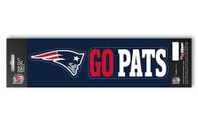 New England Patriots Set Of 2 Die Cut Slogan Decal Stickers Go Pats Hub City Sports