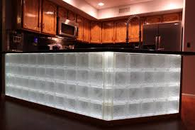 glass block wall and bar projects