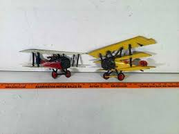 vintage metal airplanes wall decor