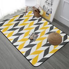 gray yellow geometric carpet rugs