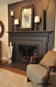 color on fireplace